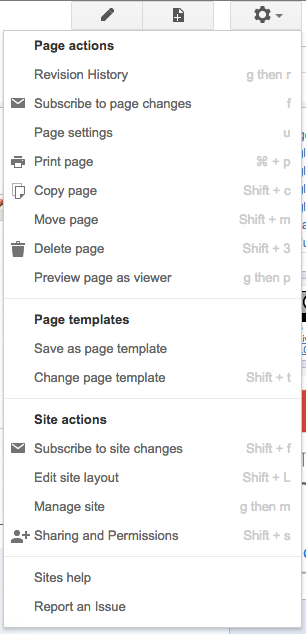 Sites Gear Icon - Google tools to teach more effectively with less ...
